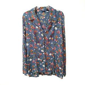 Gap floral button down shirt